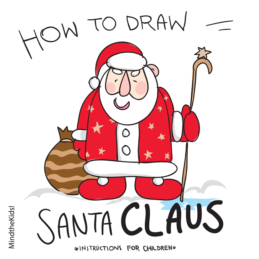 draw a dinosaur see details how to draw santa claus