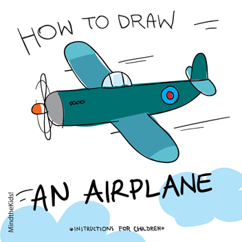 Mind The Kids | How to draw an airplane